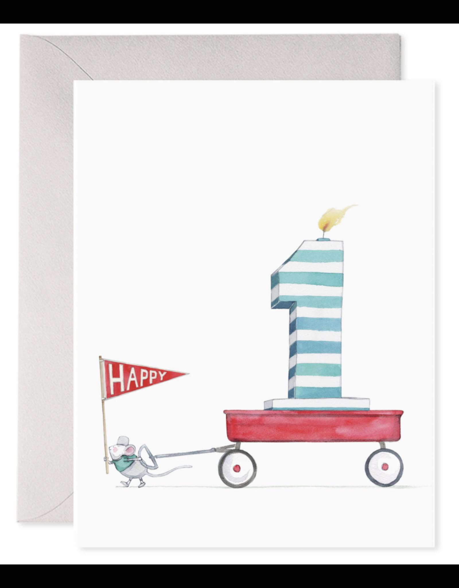 E. Frances 1st Birthday Card