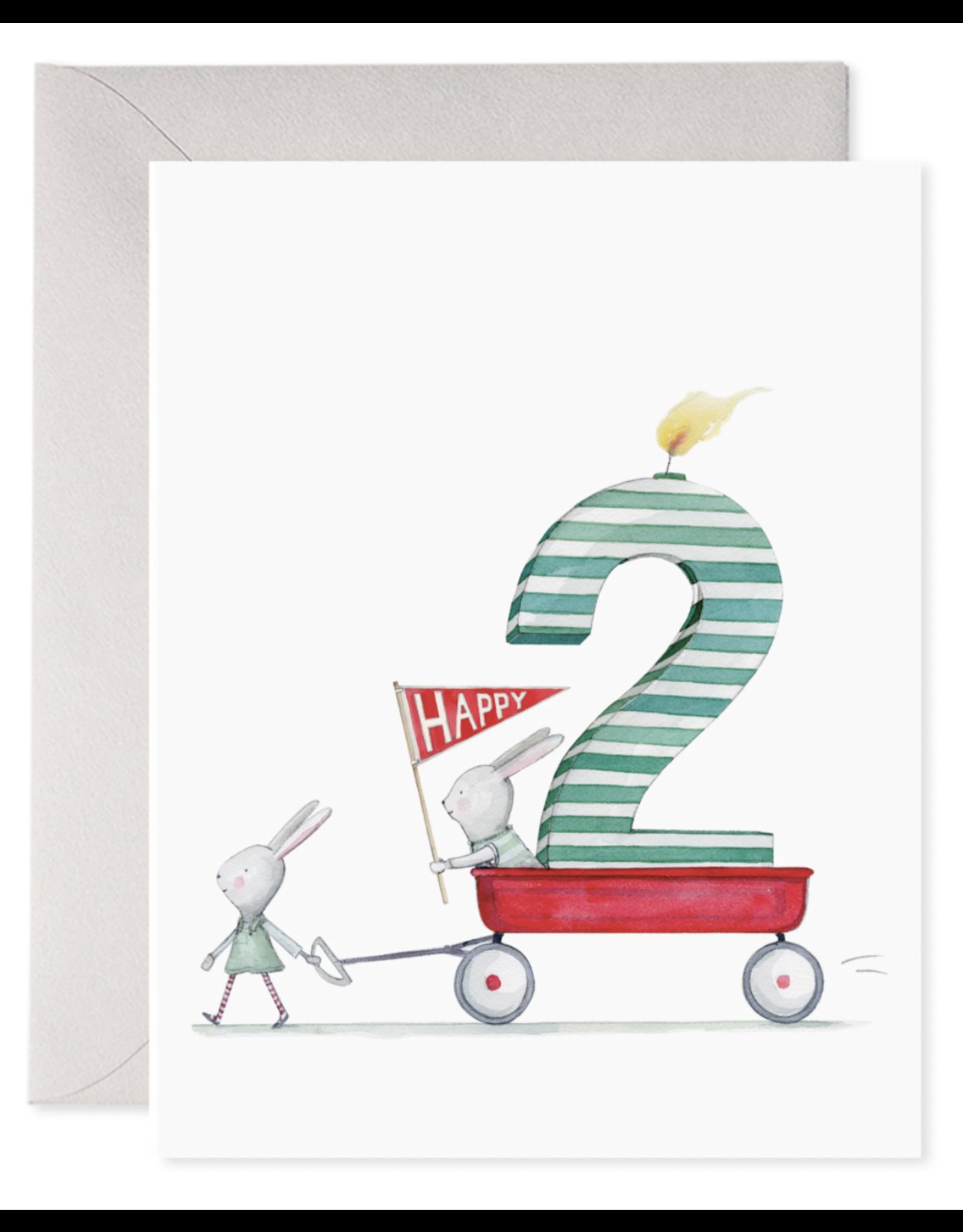 E. Frances 2nd Birthday Card
