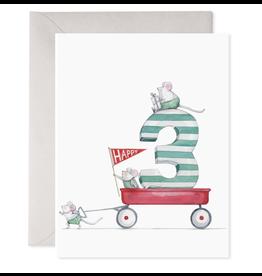 E. Frances 3rd Birthday Card