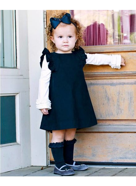 Ruffle Butts Navy Corduroy Jumper Dress