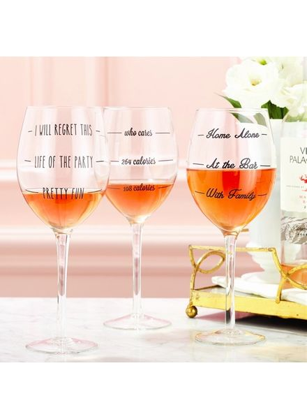 Two's Company Wine Measuring Glass