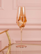 Two's Company Diamond Champagne Glass