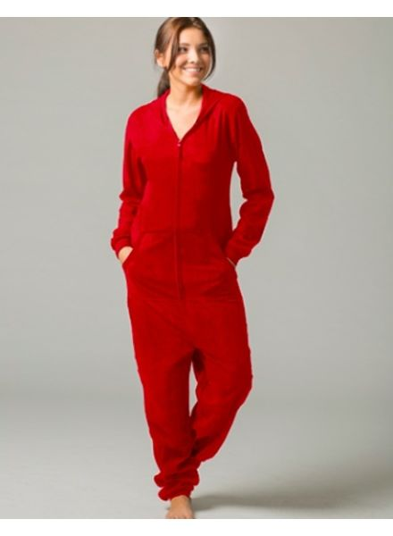 Boxercraft Red One Piece Pajama Suit