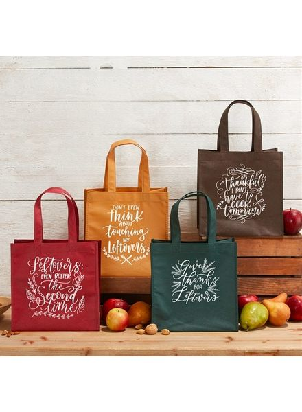 Two's Company Set of 4 Thanksgiving Leftovers Bag