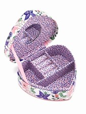 Two's Company Floral Heart Jewelry Box