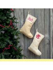 Wholesale Boutique Gold Dot Christmas Stocking