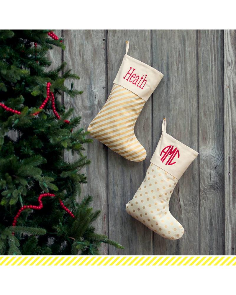 Wholesale Boutique Gold Dot Christmas Stocking