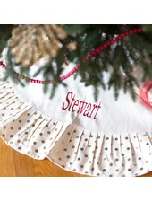 Wholesale Boutique Personalized Gold Dot Tree Skirt