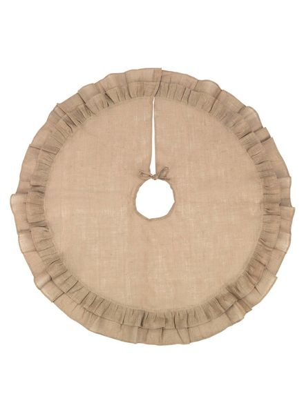 Wholesale Boutique Burlap Ruffle Tree Skirt