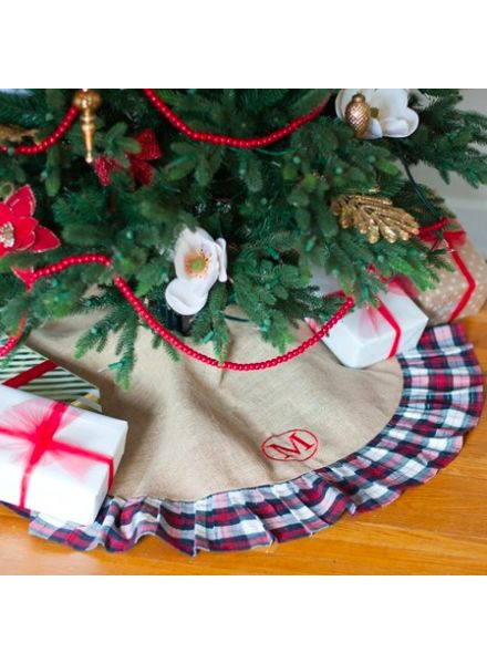 Wholesale Boutique Winter Plaid Tree Skirt