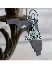 Duct Tape & Denim Florida Christmas Ornament