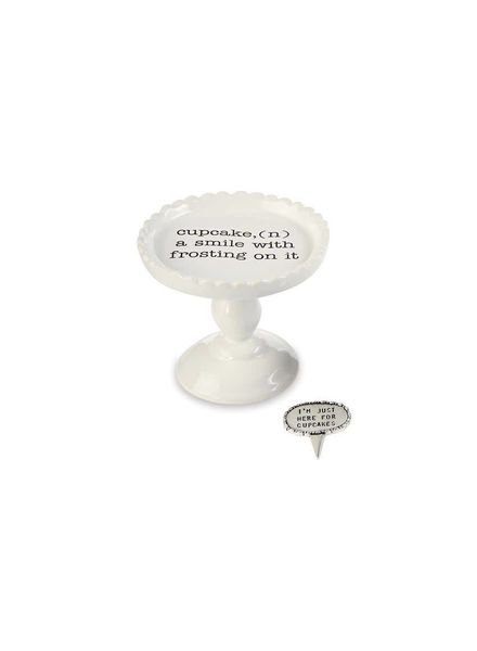 Mudpie A Smile With Frosting Cupcake Stand