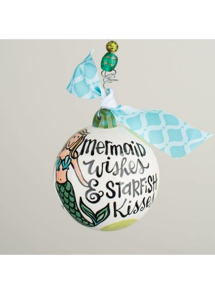 Glory Haus Mermaid Kisses & Starfish Wishes Ornament