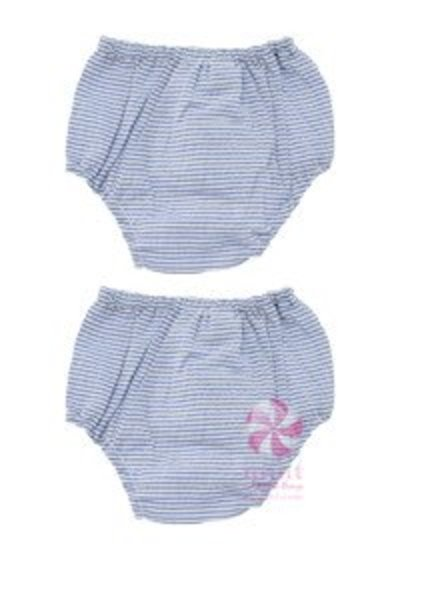 Mint Navy Seersucker Bloomers