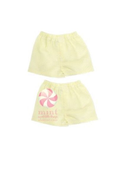 Mint Yellow Seersucker Boxers