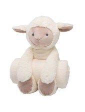Elegant Baby Lamb Stuffed Animal & Monogrammed Blanket