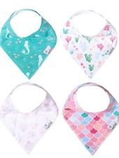 Copper Pearl Coral Bandana Bibs Set