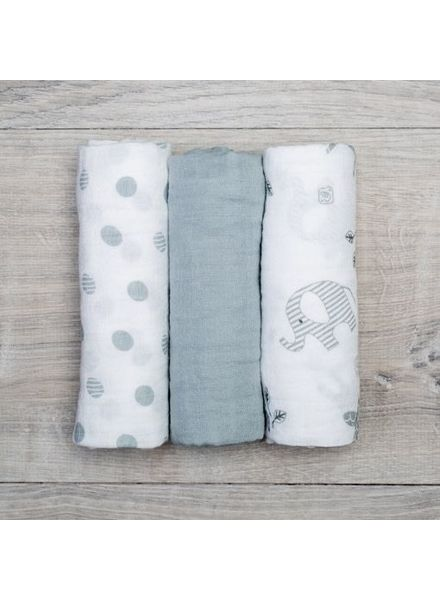 Mary Meyer Grey Muslin Blanket Set