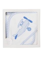 3 Marthas Blue Plane Hooded Towel