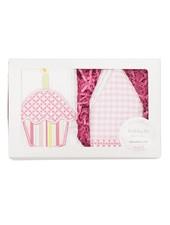 3 Marthas Pink Birthday Crown & Bib Set