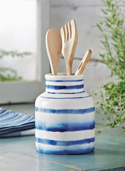 Mudpie Striped Utensil Caddy