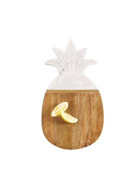Mudpie Wood & Marble Pineapple Board