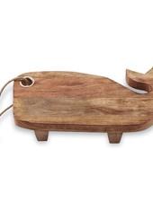Mudpie Wood Whale Pedestal Tray