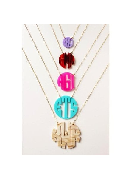 Moon and Lola Moon & Lola Circle Monogram Necklace
