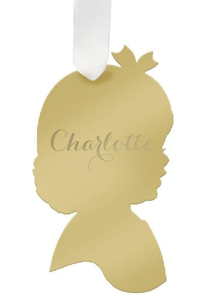 Moon and Lola Moon & Lola - Personalized Child Ornament - Girl