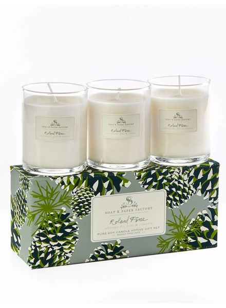 Soap & Paper Factory Roland Pine Votive Trio Gift Set