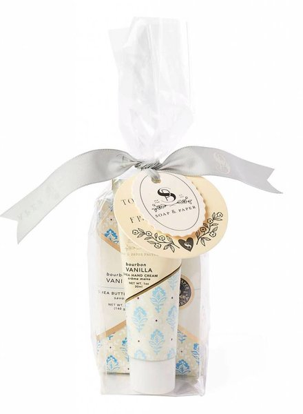 Soap & Paper Factory Bourbon Vanilla Gift Set