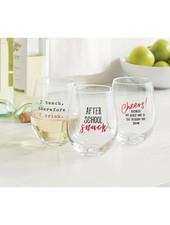 Mudpie Stemless Teachers Wine Glasses