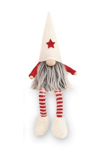 Mudpie White Dangle Leg Gnome