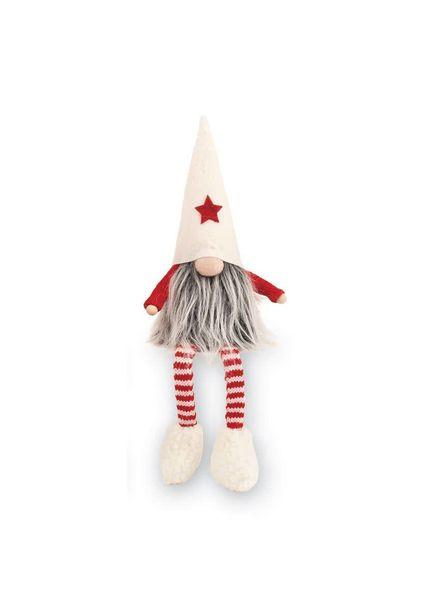 Mudpie White Dangle Leg Gnome
