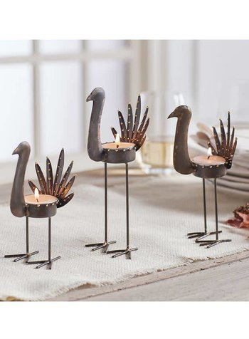 Mudpie Tin Turkey Votive Holders