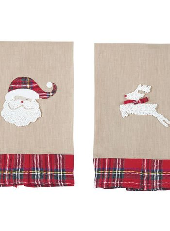 Mudpie French Knot Christmas Towel