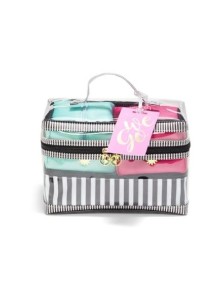 Two's Company Set of 4 Cosmetic Travel Bags
