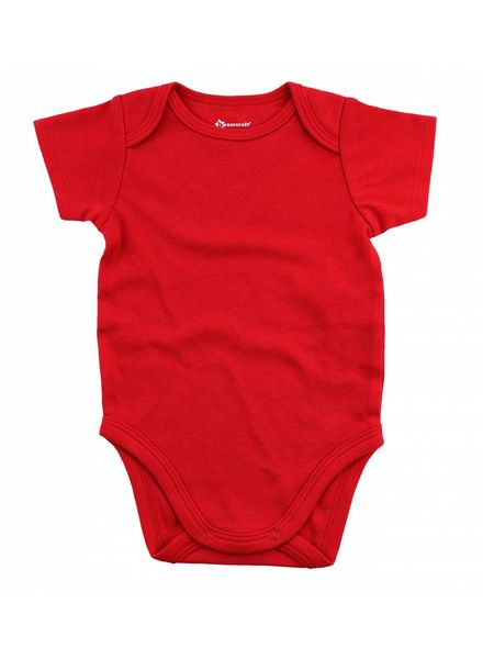 Boxercraft Monogrammed Red Bodysuit