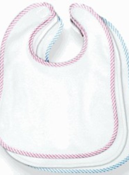 Personalized Bib With Red Trim