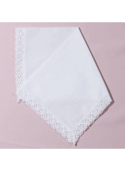 Personalized  Lace  Handkerchief