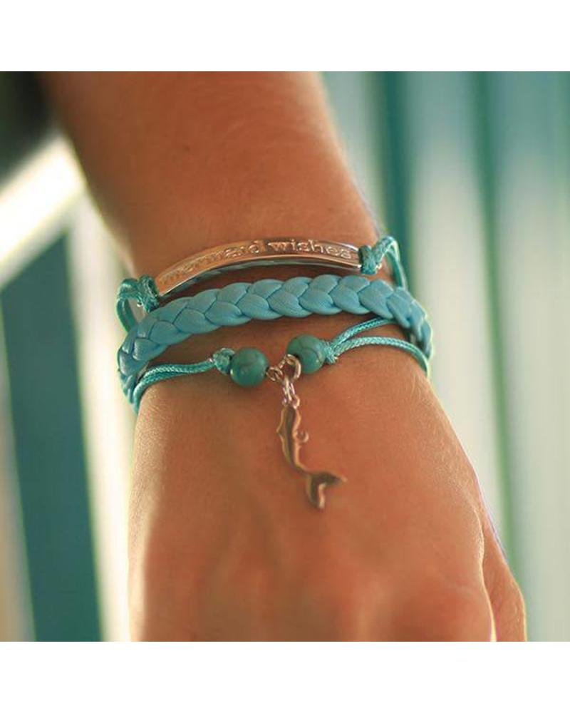 Mermaid Life Mermaid Wishes Leather Bracelet