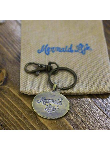ORIGINALLY $15 Mermaid Life Medallion Key Chain
