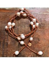 Sea Lustre Nugget Pearl Wrap Necklace