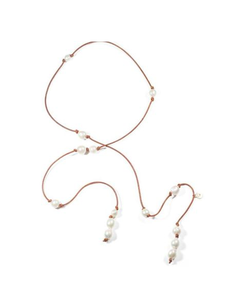Sea Lustre Lariat Pearl Wrap Necklace - 3 Colors