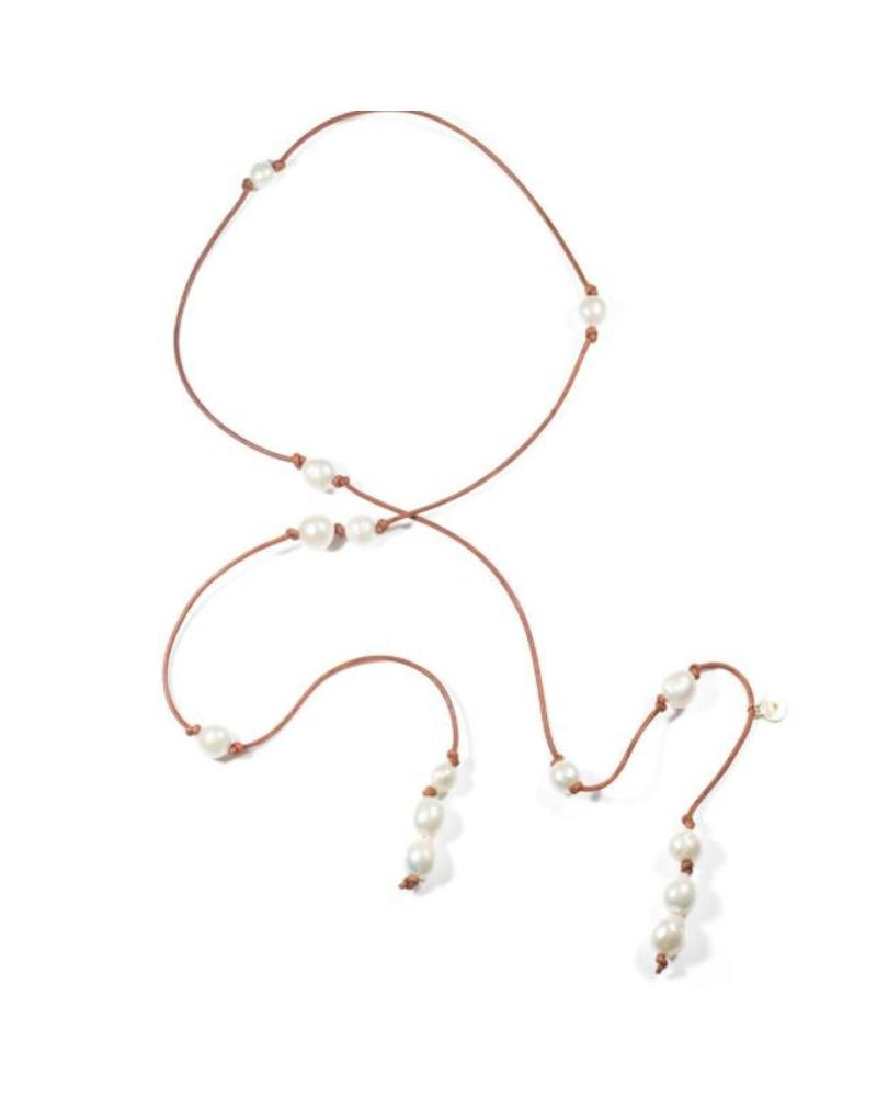 Sea Lustre Lariat Pearl Wrap Necklace