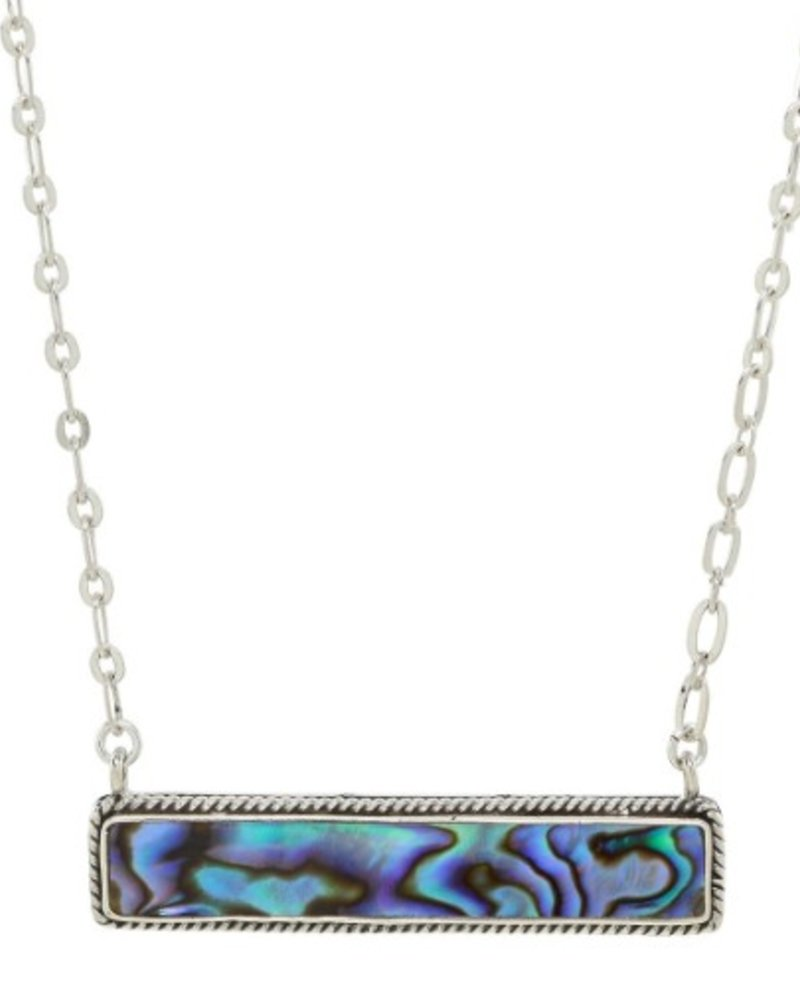 Sea Lustre Abalone Bar Necklace