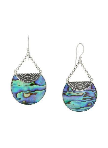 Sea Lustre Abalone Luna Drop Earrings