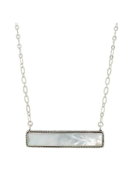 Sea Lustre Mother of Pearl Bar Necklace