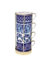 Lilly Pulitzer Indigo Cappuccino Mug Set