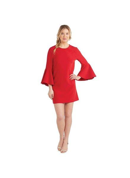 Mudpie Red Bell Sleeve Dress